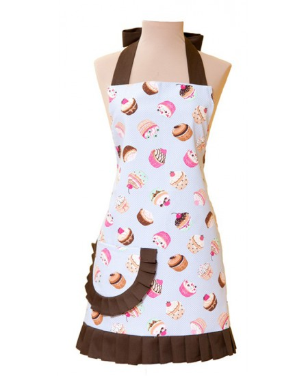 VINTAGE APRON HELENE CUP CAKES