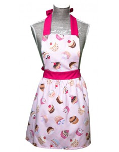 VINTAGE APRON NADINE CUP-CAKES GIRL