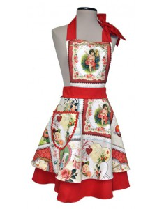 Vintage Apron woman Wendy Angels