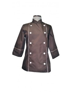 Chaqueta de cocina Sweet Jacket Combi Brown