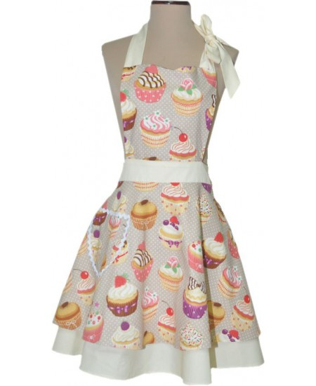 Tablier Vintage Wendy CUPCAKES